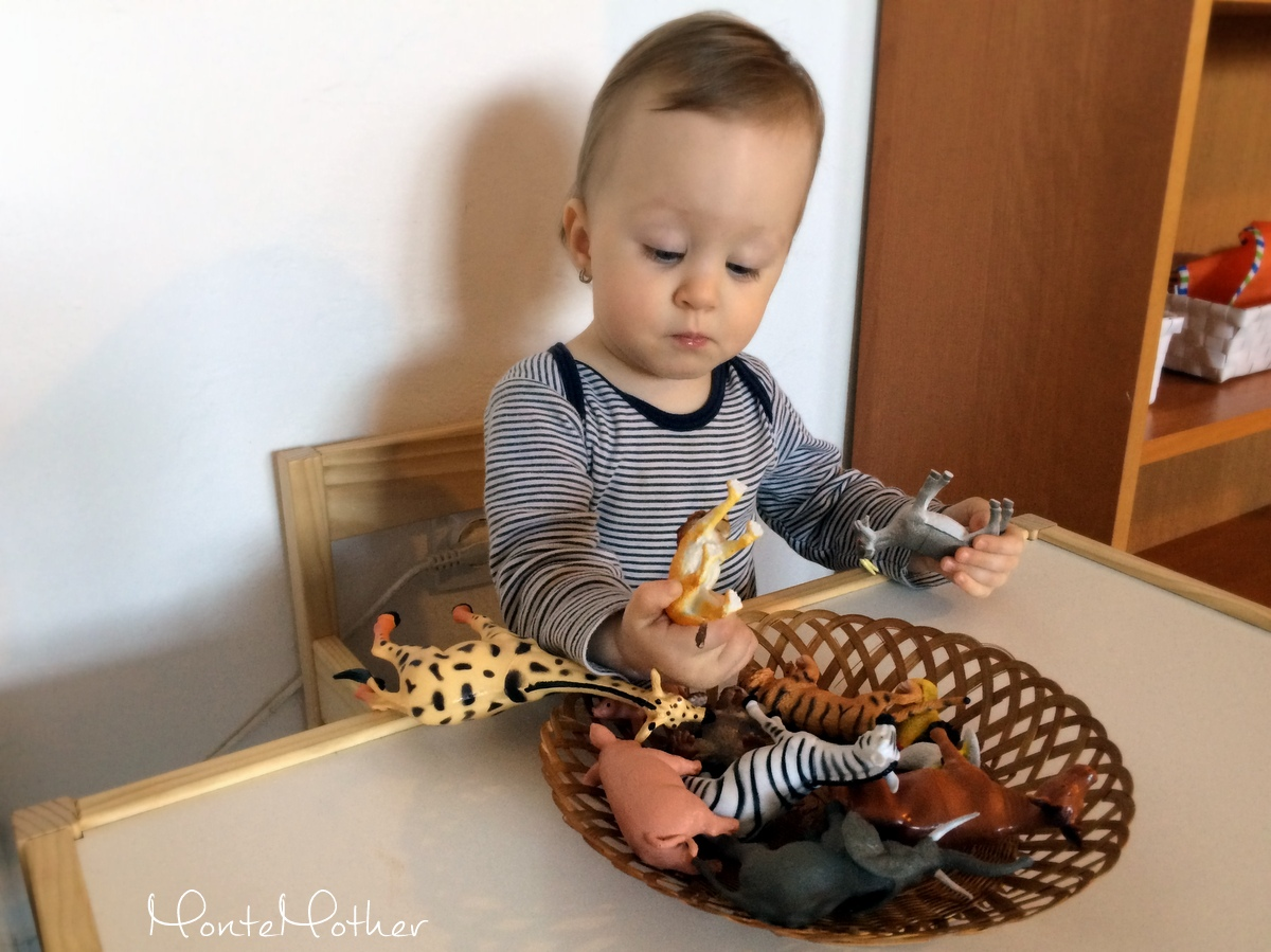 spoznávanie zvieratiek/getting to know animal figures montessori