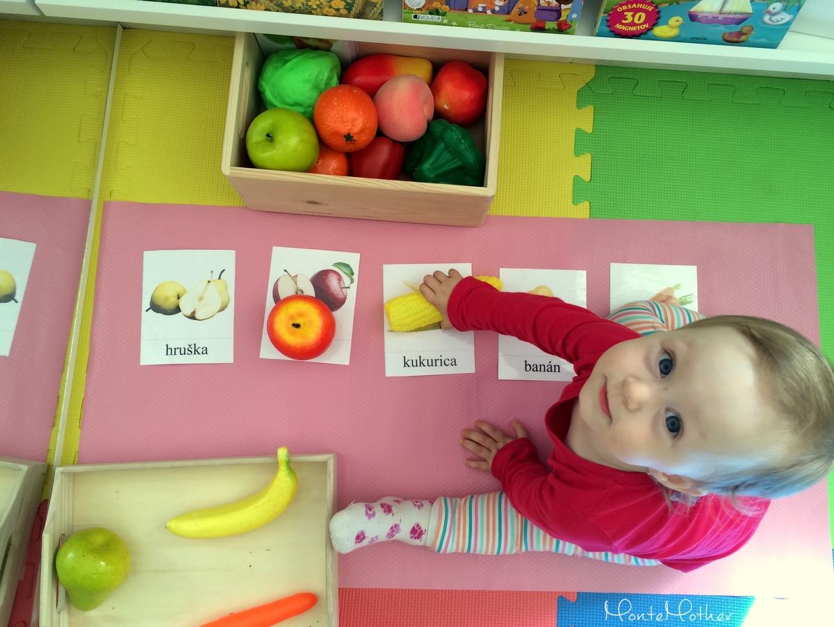 Montessori priradovanie ovocia a zeleniny 2