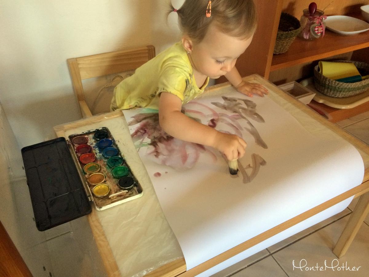maľovanie detským štetcom