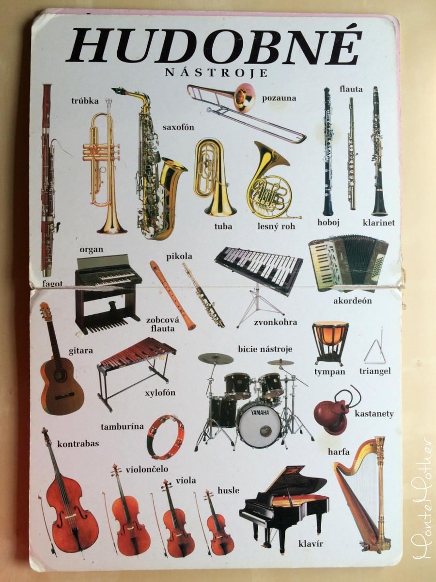 moja druhá knižka - hudobné nástroje