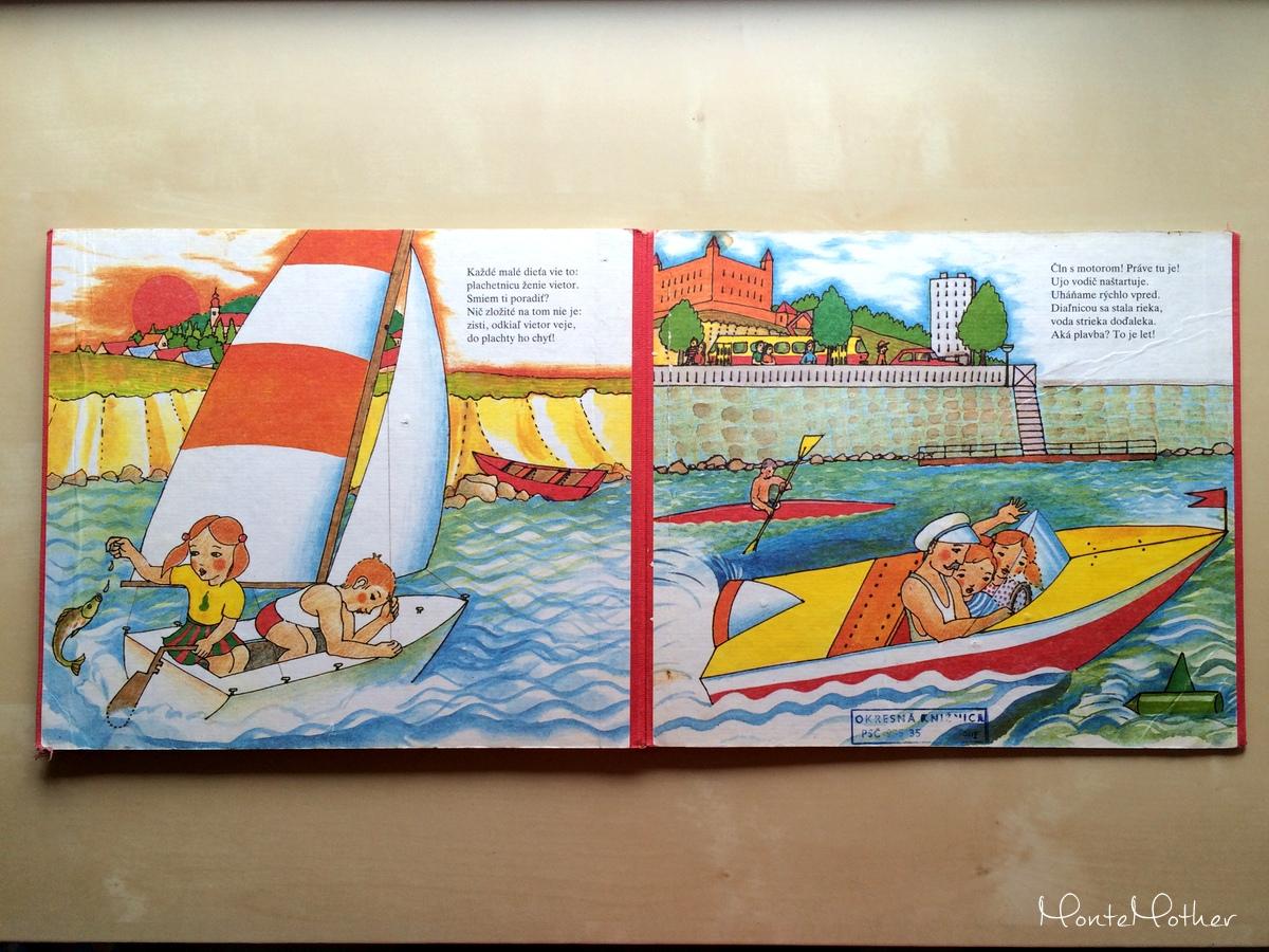 pláva loďka po vode 1