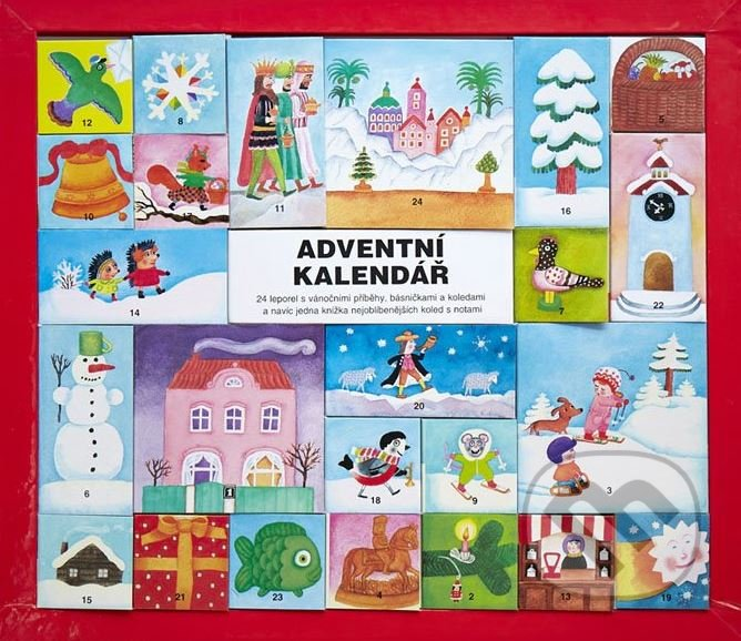 adventny kalendar knizka pre deti