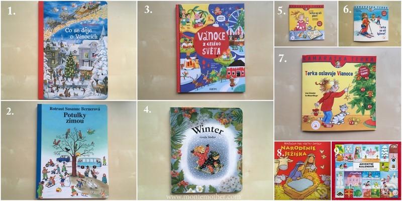 montessori knihy o zime a vianociach