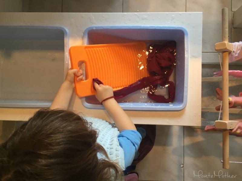 rumpla pranie montessori