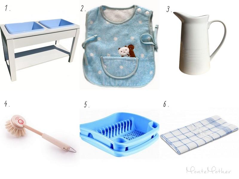 montessori umyvanie riadu