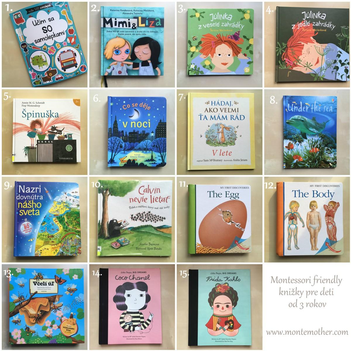montessori knižky z našej poličky pre deti od 3 rokov